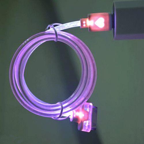 PS Mall iphone6發光夜光資料線傳輸線 充電線 iPhone 6/6PLUS/5/5S/5C 【J596】iphone6&I6可用