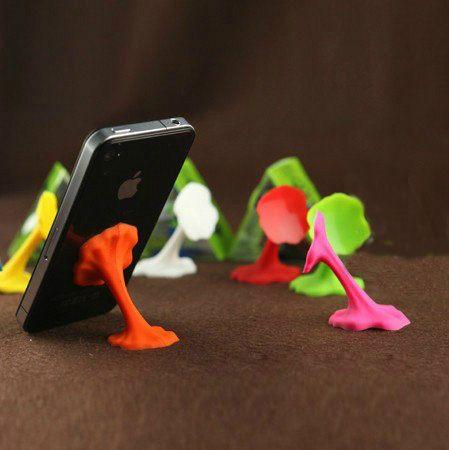 PS Mall╭*繽紛多彩口香糖手機固定架 吸盤固定座 iphone/HTC/三星 手機支架【J2172】