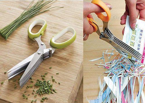 PS Mall╭*家用碎紙剪刀 多層剪刀 剪蔥刀【J496】