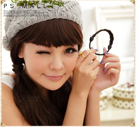 PS Mall 韓國超人氣髮飾 假髮造型編辮子髮束 麻花辮髮束 假髮馬尾髮束 髮飾 【p045】