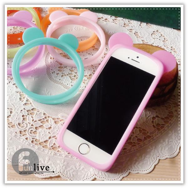 【aife life】米奇果凍矽膠手機套/熊耳 手機邊框/止滑/手機保護殼/手機套/矽膠手環/iphone5 6 plus