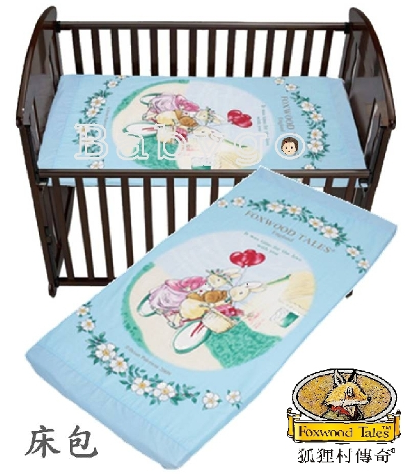*babygo*狐狸村傳奇床包-L(適用125×65cm嬰兒床墊)【藍】
