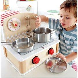 *babygo*德國Hape愛傑卡-廚房系列-攜帶式小廚房