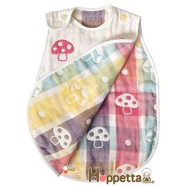 *babygo*日本 Hoppetta-六層紗蘑菇防踢被【米白】-適用年齡新生兒~3歲