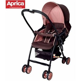 *babygo*愛普力卡Aprica-Karoon 629輕量雙向平躺型嬰幼兒手推車【浪漫粉紅92553】