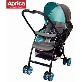 *babygo*愛普力卡Aprica-Karoon 629輕量雙向平躺型嬰幼兒手推車【繽紛綠92552】