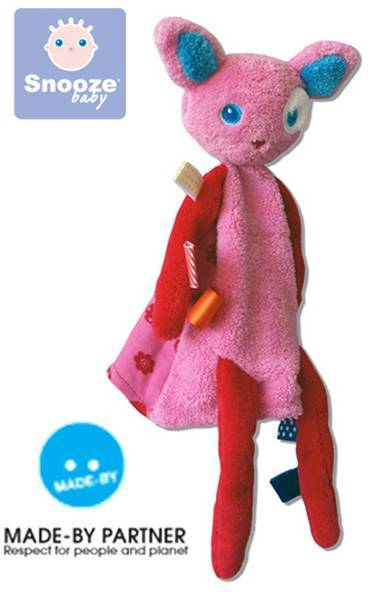 *babygo*荷蘭Snoozebaby小貓Mimi安撫標籤手偶/Cuddling Toy