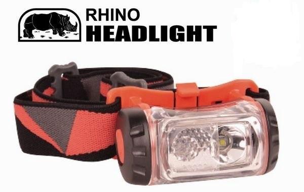 《台南悠活運動家》RHINO 犀牛 強力雙光源LED頭燈 工作燈 頭燈 露營燈 野營 HL-500