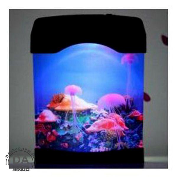 《DA量販店》LED燈 電子魚缸 電子水族箱 電子水母 電子寵物 小夜燈 仿真寵物(79-1424)