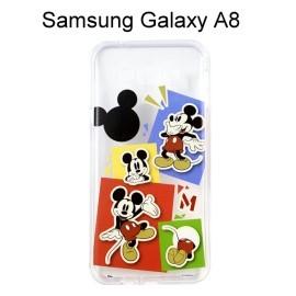 迪士尼透明軟殼 [人物] 米奇 Samsung A8000 Galaxy A8【Disney正版授權】