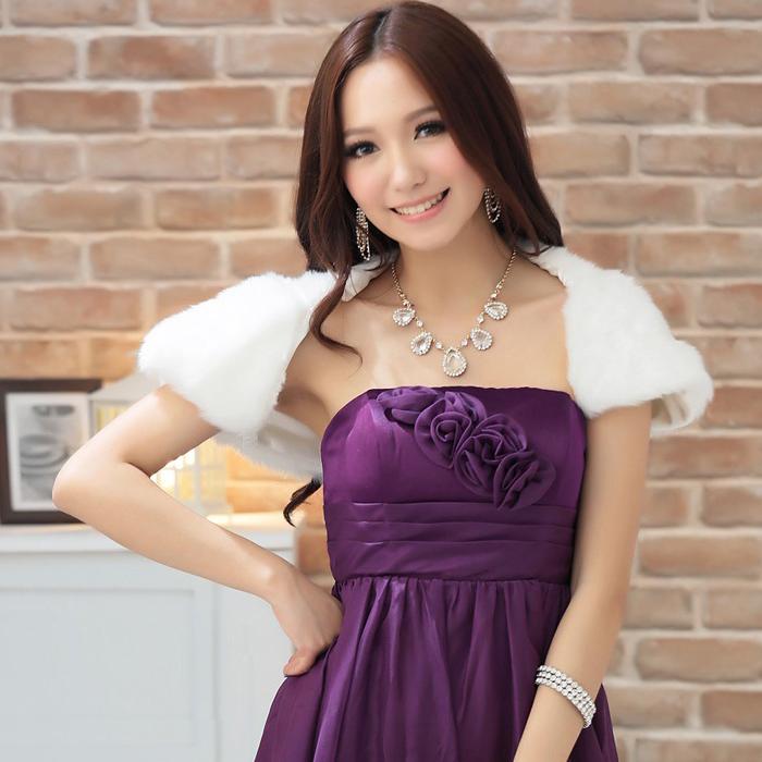 灰姑娘[2297-S]俏麗時尚皮草質感披肩小外套