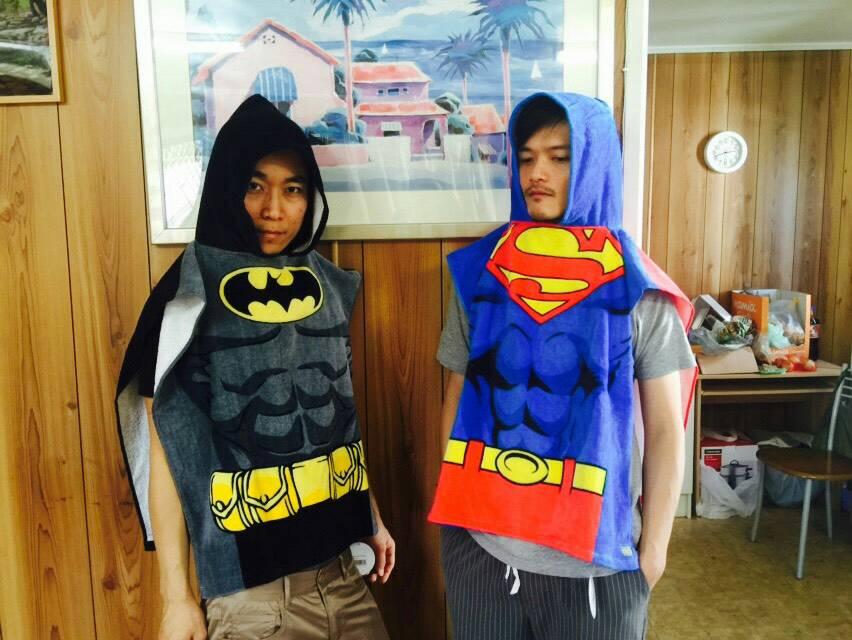 【真愛日本】15122900009 樂園限定造型海灘浴巾-蝙蝠俠 BATMAN 澳洲迪士尼 浴巾 生活用品