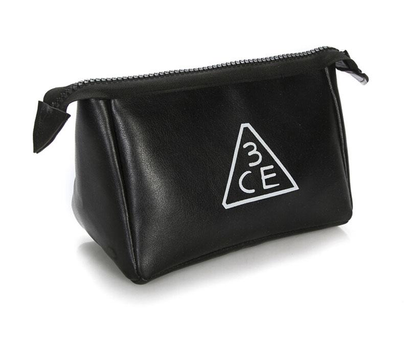 3CE化妝包 - 3CONCEPT EYES PU皮紋大容量化妝包收納包手拿包 【AN SHOP】