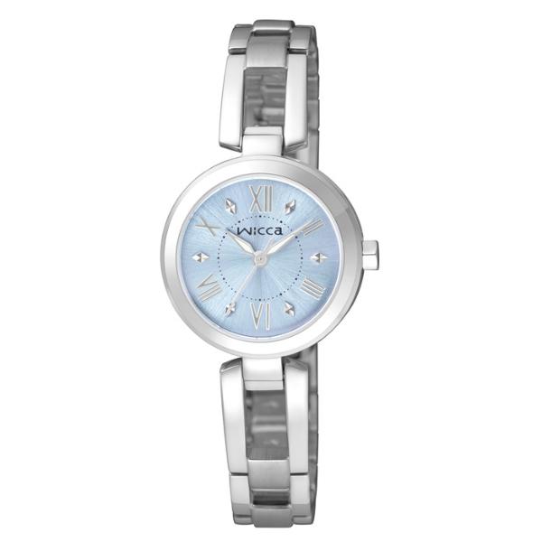 CITIZEN星辰WICCA(BG3-911-71)環繞愛戀時尚腕錶/藍面24mm