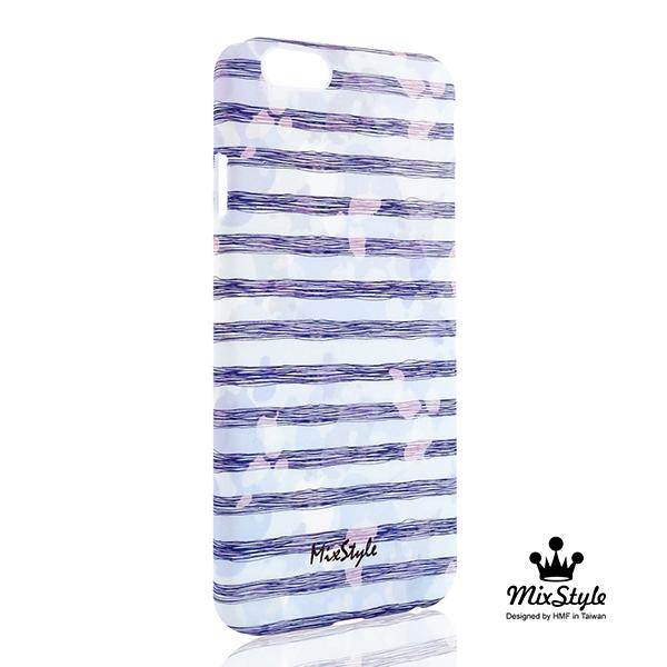 【限量19折】IPhone6 (4.7吋) 海軍風渲染條紋印花手機殼☆Olga_Angelloz設計款☆【II020_I6】