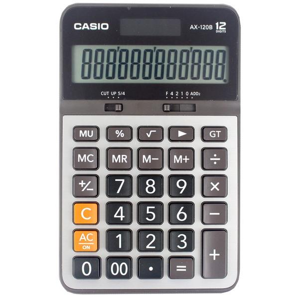 CASIO 卡西歐 AX-120B 桌上商務計算機 12位數中長型/一台入[#550]~(原AX-120S)