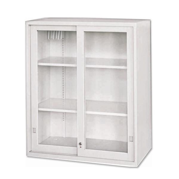 玻璃加框拉門上置式公文櫃 90 x 45 x 106.2 公分 2013-B-104-6