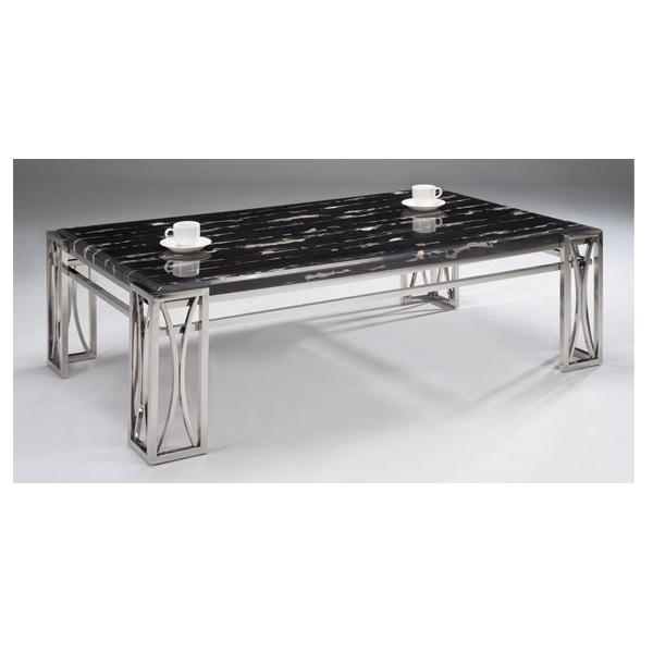 【 IS空間美學】P613黑色大理石大茶几(不鏽鋼 / 人造石 ) 2013-B-210-9