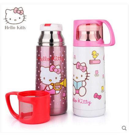 新款Hello kitty 凱蒂貓 不鏽鋼兒童保溫杯杯子水壺500ML-3616