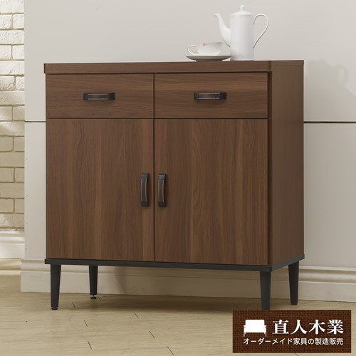 【日本直人木業】Industry80CM雙門廚櫃