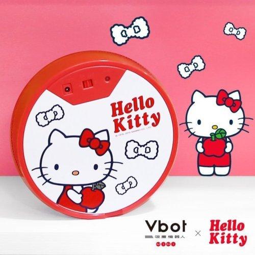 //聖誕節交換禮物// Vbot x Hello Kitty 二代限量 鋰電池智慧掃地機器人(極淨濾網型)(白)