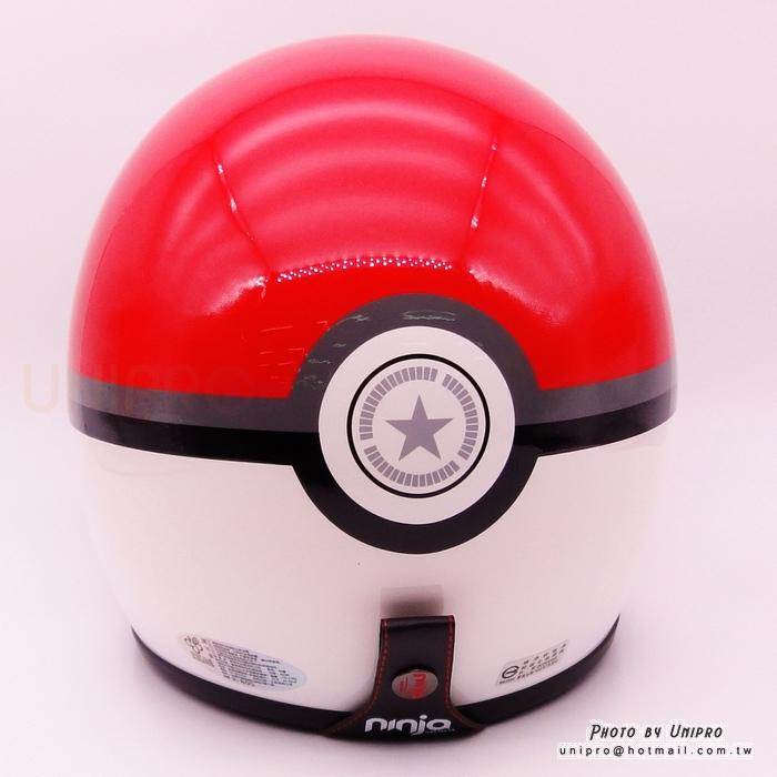 【UNIPRO】寶貝球造型 3/4 安全帽 騎士帽 騎士復古帽 附贈 抗UV PC鏡 台灣製 寶可夢
