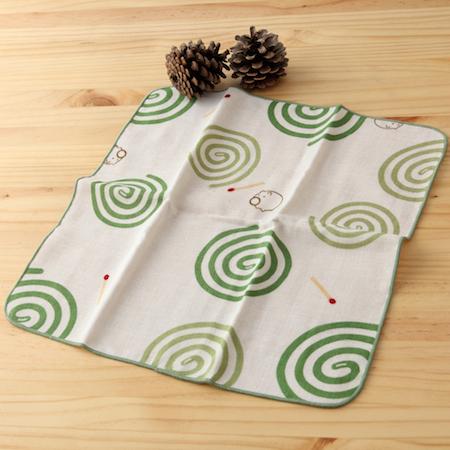 taoru 日本毛巾 和的風物詩 蚊香 30*30 cm (仕女手巾 紗布毛巾 夏夜)