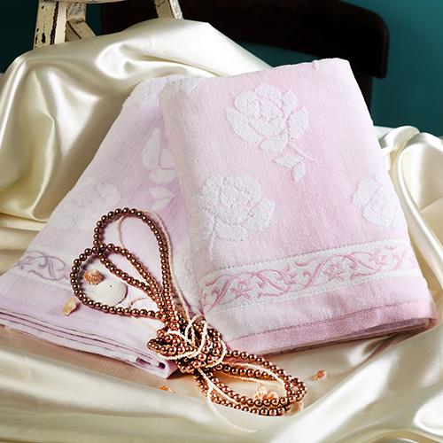 【taoru】海玫瑰 - 日本毛巾 60x120cm(浴巾)- 海中的珍珠與玫瑰緹花相結合,是謂海玫瑰