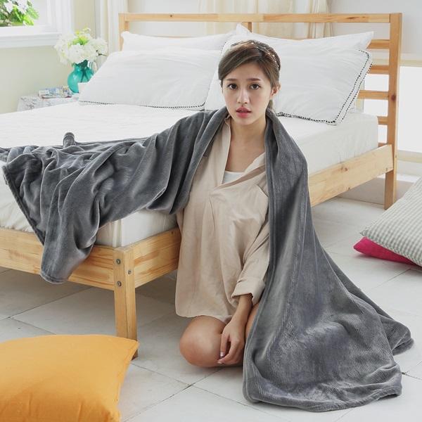 [SN]#F-FB001灰#多功能纖柔法蘭絨舒眠毯/四季毯/保暖毯(150x200cm)