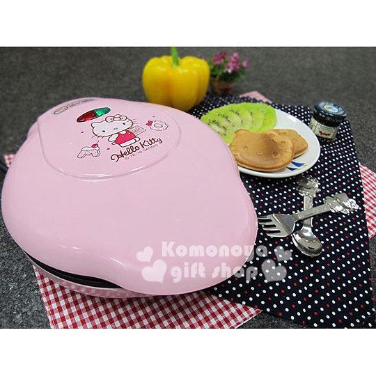 〔小禮堂〕Hello Kitty 造型蛋糕機《粉.側站.餅乾.OT-518》一次可做三個
