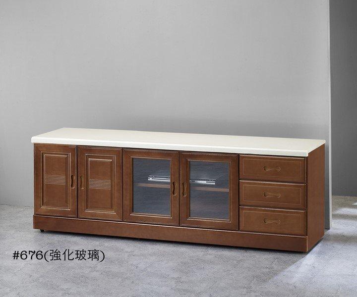 【石川家居】GH-616 樟木色6尺石面電視櫃 (不含其他商品) 需搭配車趟