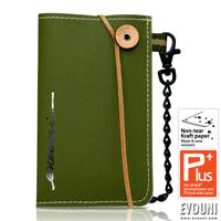 EVOUNI-E52-2GN 纖 天然木漿纖維手機套 Smartphone 橄欖綠 HTC Sony iPhone Samsung