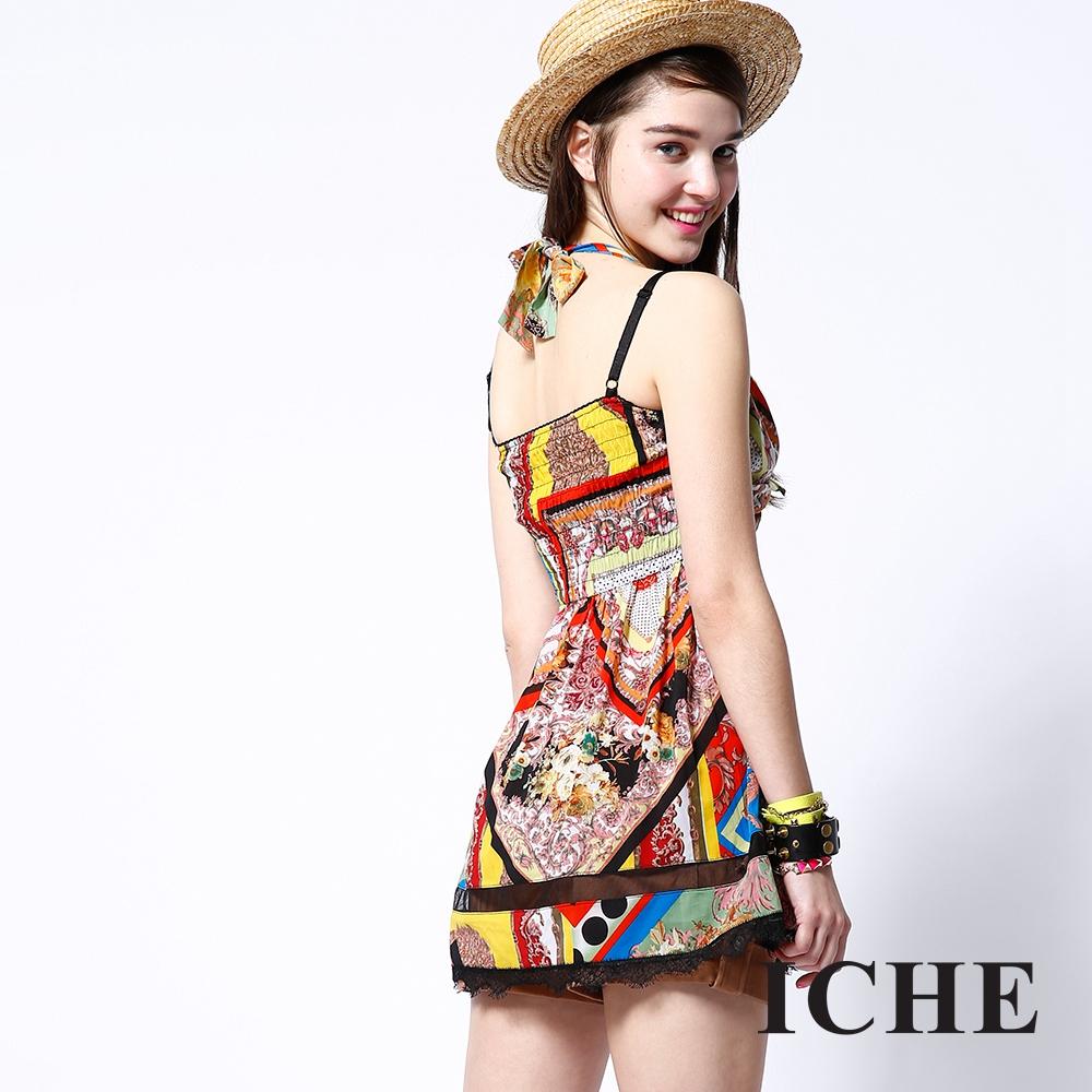 ICHE 衣哲 古典貴族印花造型洋裝