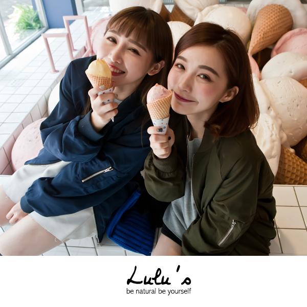 LULUS-E袖口袋素面飛行外套-4色 現+預【03070204】