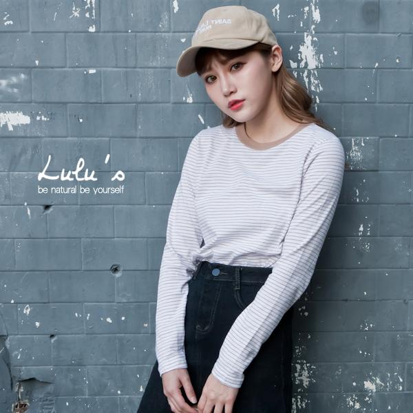LULUS-F韓製-細橫紋上衣-2色 現+預【01015883】