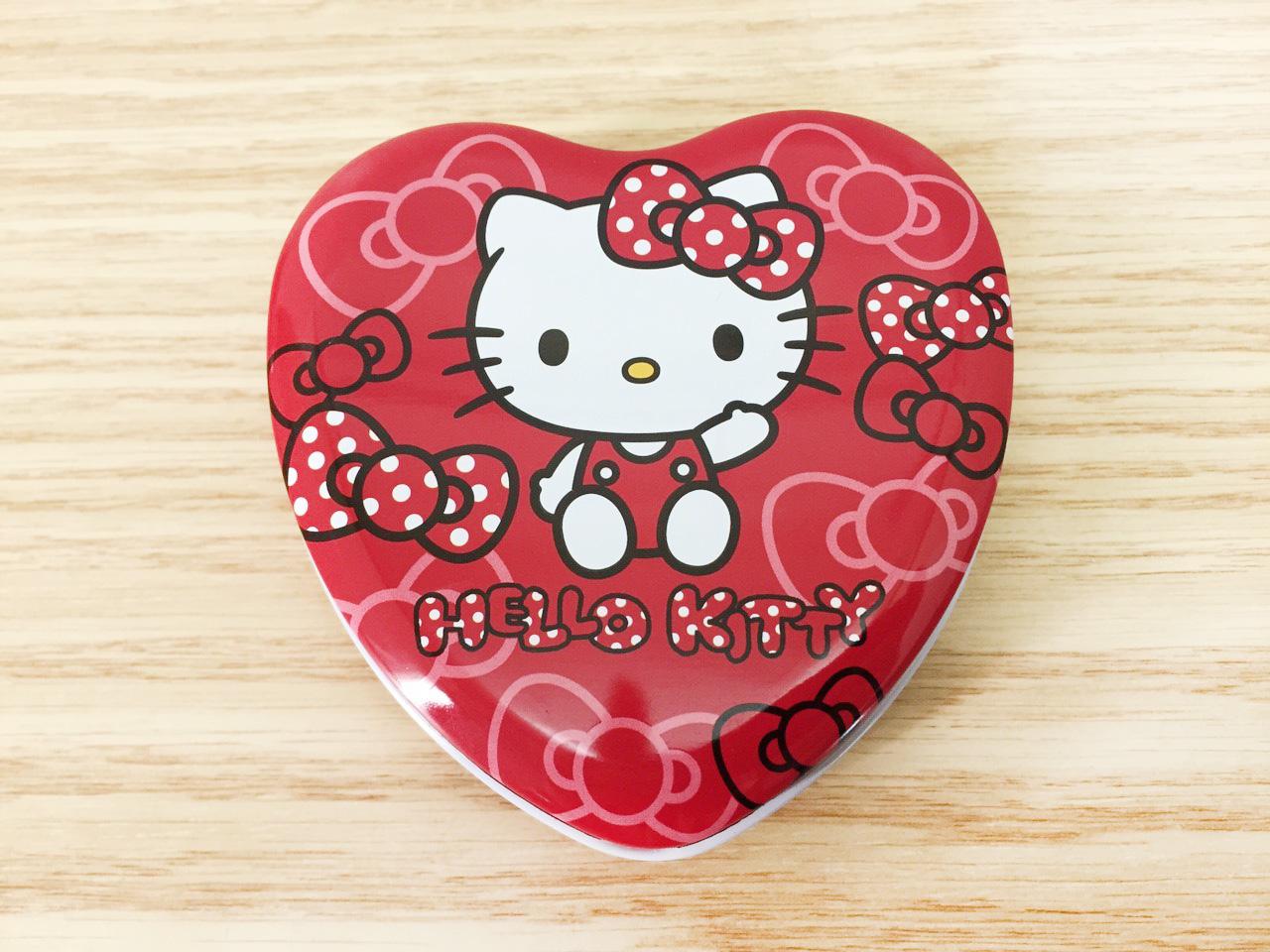【真愛日本】16011400030心型鐵盒附便條-KT紅 KITTY 凱蒂貓 三麗鷗 文具 便條紙 MEMO