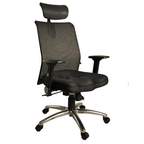 【凱堡】鐵娘子挺腰護脊高背頭枕透氣網布電腦椅/辦公椅A42024
