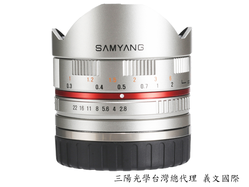Samyang 鏡頭專賣店:8mm/F2.8 Fisheye ASPH for Sony E 銀色 (魚眼 Nex 5 ,Nex 6,Nex 7, FS100,FS700,A7,A7R)