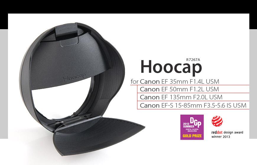 又敗家@台灣設計HOOCAP半自動鏡頭蓋遮光罩M6652D(相容EW-54太陽罩和E-52II鏡頭前蓋)適Canon佳能EF-M 18-55mm F3.5-5.6 IS STM半自動蓋半自動前蓋相容C..