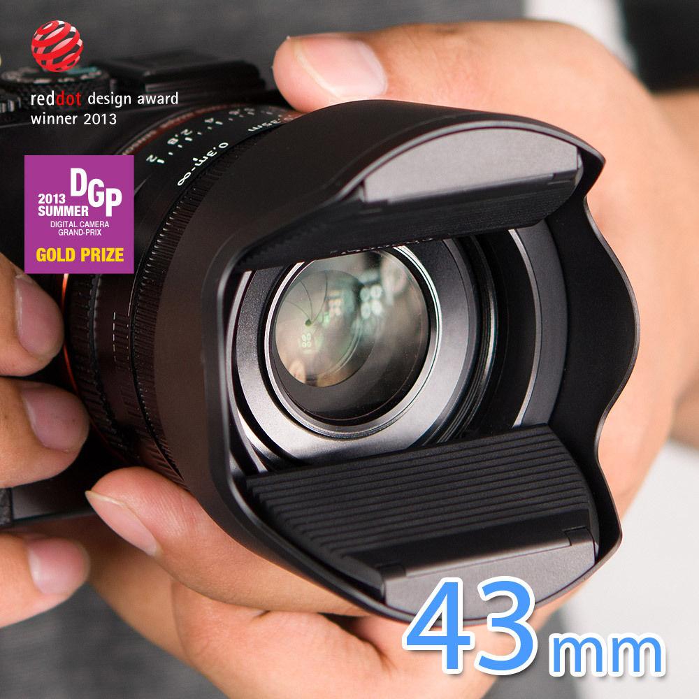 又敗家@台灣製造Hoocap半自動鏡頭蓋TM43遮光罩鏡頭蓋,取代43mm鏡頭蓋EW-43遮光罩適Canon佳能EF-M 22mm f2.0 STM f/2.0 1:2.0餅乾鏡pancake半自動蓋..
