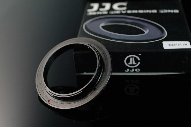 又敗家@ JJC 52mm鏡頭倒接環BR-2A倒接環適NIKON機身F卡口(鋁,搭BR-3保護後玉,非原廠倒接環)52mm倒接環窮人微距鏡頭MACRO鏡MICRO鏡
