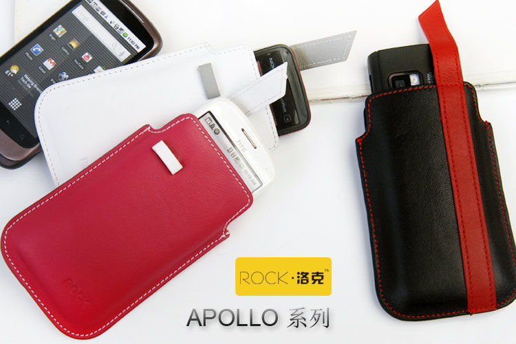 又敗家@洛克ROCK牛皮手機皮套手機袋APOLLO 適Apple蘋果iPhone iPod HTC NOKIA三星3G 4G 5G 6G Desire渴望I9000 N8-00 Galaxy