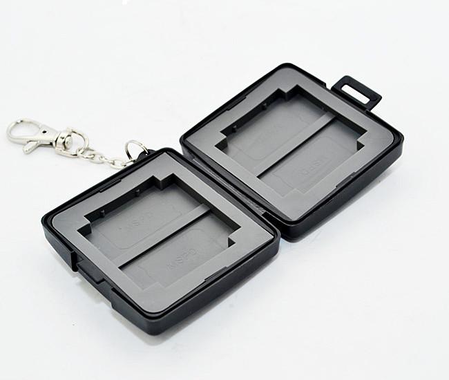 又敗家@黑uWinka MSPD.CF記憶卡儲存盒附鑰匙鏈 記憶卡收納盒記憶卡保存盒記憶卡保護盒 Memory Stick PRO DUO儲卡盒CF記憶卡盒