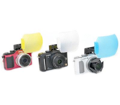 又敗家@類單微單眼3色神盾超大內閃柔光罩(偏左,大80%)適Sony RX100 ii RX100m2 Canon EOS M3 G3X G3 G1X G1 X mark G16 G15 OLYMPU..