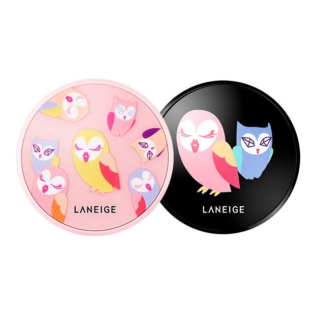 貓頭鷹聯名限量款 蘭芝 Laneige x Lucky chouette韓國 氣墊粉餅 水聚光淨白 / 零毛孔無暇 ~二擇一~SPF50+ / PA+++《ibeauty愛美麗》