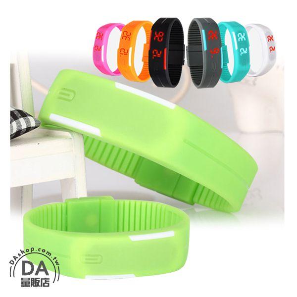 《DA量販店》馬卡龍 LED 觸控 手錶 果凍錶 運動 手環 手鐲 綠色(V50-1124)