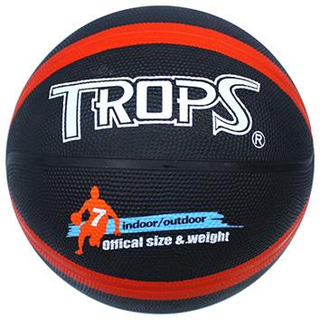 【成功】 40179B #7雙色十字刻字籃球(黑/紅)