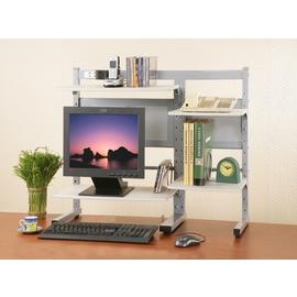 《C&B》萬代田桌上型電腦架(附可調式層板、插座)