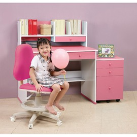 《C&B》快樂學習機能型成長書桌椅三件組