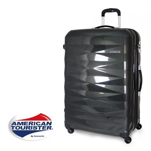 【加賀皮件】American Tourister 美國旅行者鑽石切面超輕亮面硬殼四輪行李箱/登機箱 29吋 【R87】